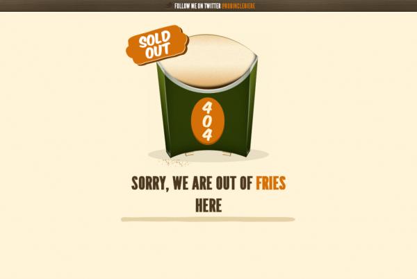 20. 404 error design
