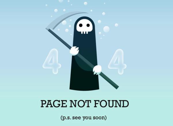 4. 404 error design