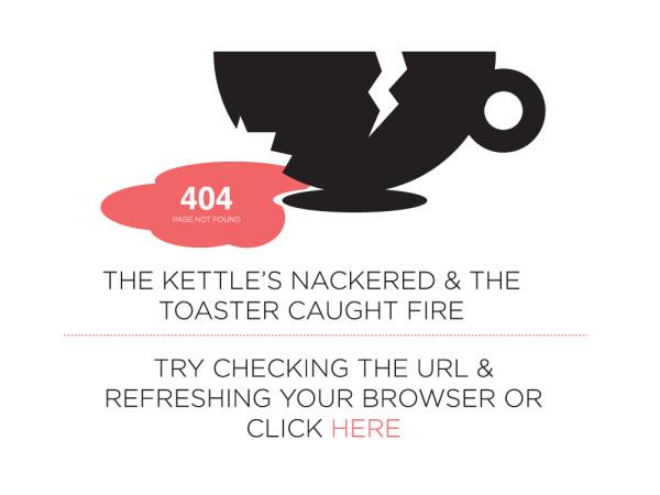 6. 404 error design