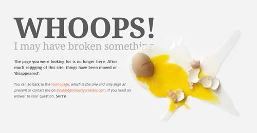 8. 404 error design