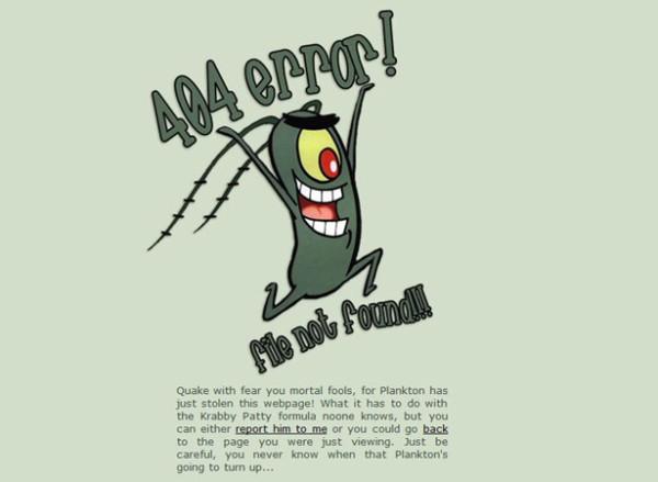 9. 404 error design