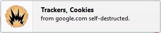 Another notification popup46 حذف خودکار کوکی های سایت به هنگام بستن تب یا مرورگر در فایرفاکس