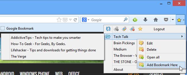 Assorting your Google Bookmarks14 دسترسی سریع و مدیریت Google Bookmark از طریق نوار ابزار فایرفاکس
