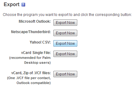 Export Yahoo CSV1 Back Up Your Facebook Contacts to Yahoo & Gmail