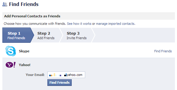 Facebook Find Friends1 Back Up Your Facebook Contacts to Yahoo & Gmail