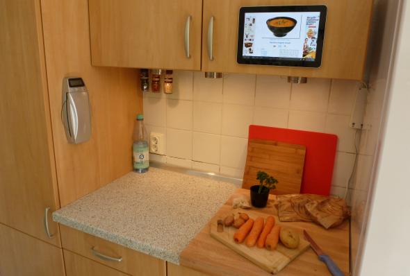 computer in kitchen