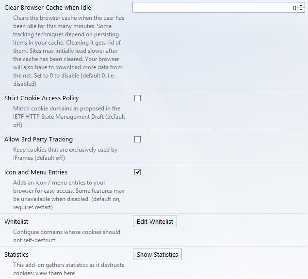Options part II25 حذف خودکار کوکی های سایت به هنگام بستن تب یا مرورگر در فایرفاکس
