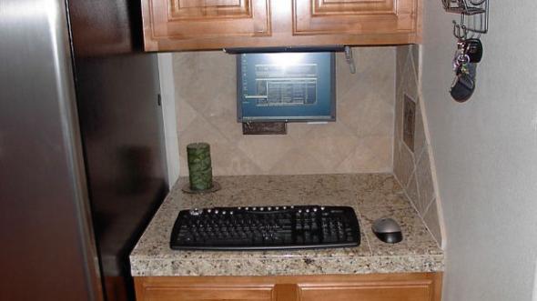 computer in kitchen ideas