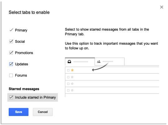 Starred Emails Primary copy 540x40014 استفاده از تب های جدید جی میل را شروع کنید