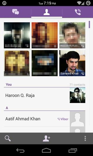 Viber for Android Contacts