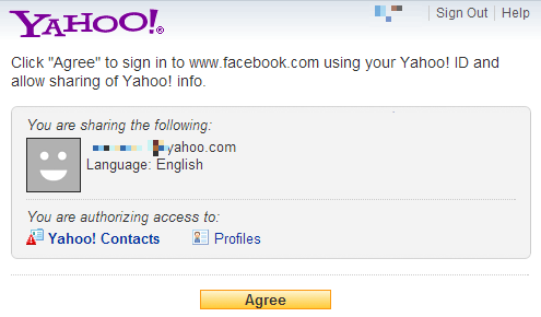 Yahoo Authorize Access1 Back Up Your Facebook Contacts to Yahoo & Gmail