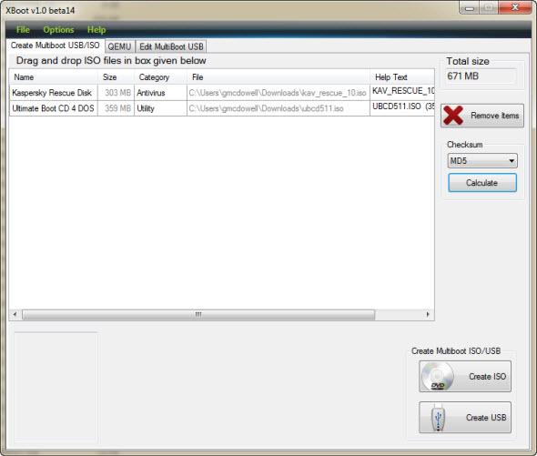 xboot main screen نصب چند سیستم عامل روی یک USB درایو