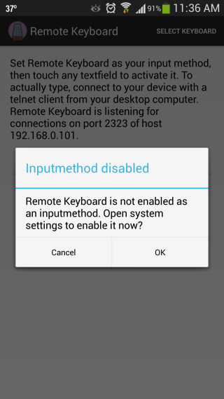 Remote Keyboard