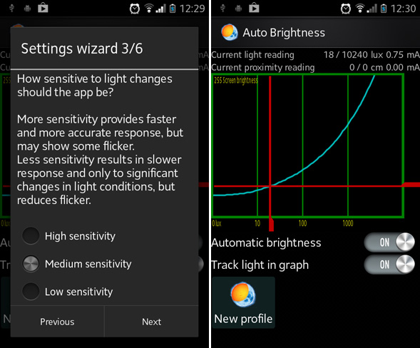 android brightness