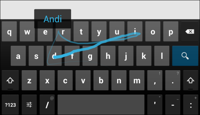 android gesture typing3 پنج ترفند و آموزش برای تسلط بر روی کیبورد اندروید
