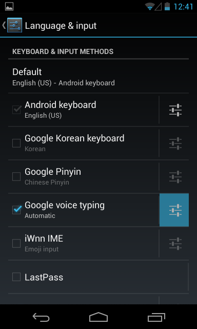 google voice typing settings5 پنج ترفند و آموزش برای تسلط بر روی کیبورد اندروید